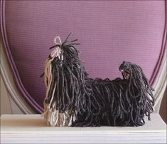 Cute Life-size Knitted Dogs by Sally Muir and Joanna Osborne