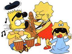 Bart, Lisa, and Maggie Simpson