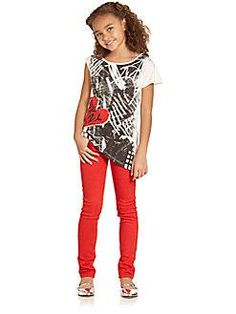 Back to School time!  DKNY - Girl's Abstract Heart Top