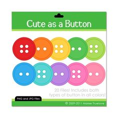 Button clip art for invitations, or game papers.