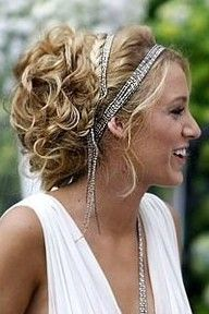Wedding hair ... but I want my headband to be twine and flowers.