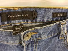 12.70$  Buy now - http://viupv.justgood.pw/vig/item.php?t=xr004b2896 - CALVIN KLEIN JEANS Flare Jeans Medium Wash - SIZE 12 - NICE! 12.70$