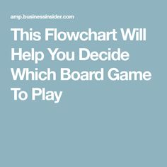 This Flowchart Will Help You Decide Which Board Game To Play