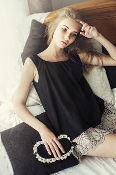 Nachtwäsche - The Black One - ein Designerstück von SkinnySonders bei DaWanda