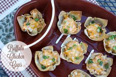 Buffalo Chicken Cups {Game Time Recipe}