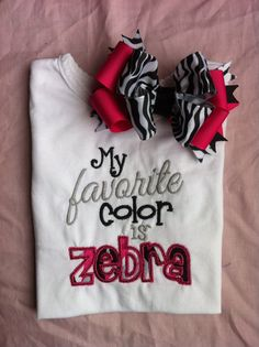 My Favorite color is Zebra Boutique shirt and by SparklesnCowgirls, $24.00 I want this except in Leopard!!!