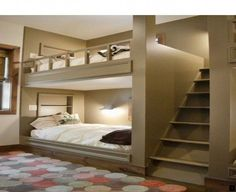 Youngsters Bedroom Furnishings – Bunk Beds for Kids Bunk Bed Decor, Bunk Bed Rooms, Bunk Beds Built In, Modern Bunk Beds, Bunk Beds With Stairs, Bedroom Loft, Modern Bedroom, Bedroom Curtains, Trendy Bedroom