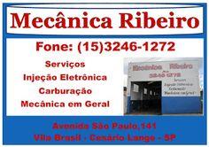 MECÂNICA E AUTO PEÇAS  RIBEIRO  Av. São Paulo, 141  Vila Brasil - Cesário Lange - SP  tel: (15)3246
