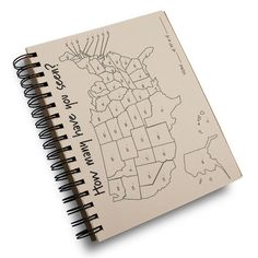 Shop this 50 states travel journal paper notebook and keep track of all your outdoor experiences. Teardrop Shop has what you need!