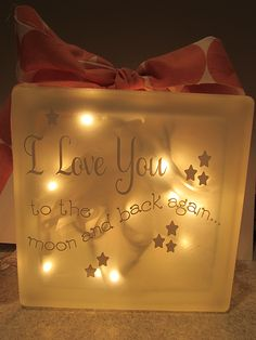 Cara Miller's Let Learn Cricut U Projects How to  Create Frosted, lighted glass blocks