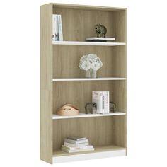 Fabric Storage Ottoman, Fabric Sofa, Bookcase Shelves, Display Shelves, Living Room Furniture, Home Furniture, Book Cabinet, Standing Shelves, Sonoma Oak