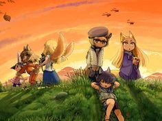 Golden Sky Stories: Heartwarming Role-Playing  by Ewen Cluney // A heartwarming tabletop RPG originally from Japan about magical animals helping people.
