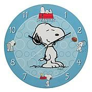 Peanuts Snoopy Wall Clock -   This wonderfully designed blue Peanuts Snoopy wall clock features a large image of Snoopy in the middle of the clock along with various images of Snoopy enjoying himself and hanging out with his pal, Woodstock. Youll enjoy yourself too if you order this cordless wood wall clock with...