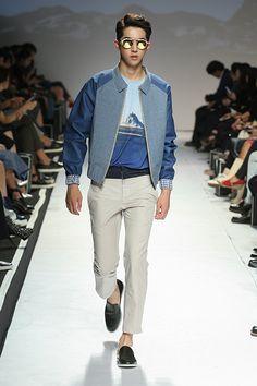 Cool spring jacket (Nam Joo Hyuk at the Studio K—Spring 2015 Seoul Fashion Week).