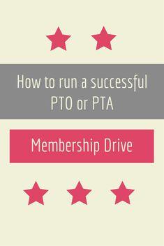 How To Run a PTO or PTA Membership Drive