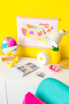 Map Crafts, Pink Crafts, Color Crafts, Crafts For Girls, Diy And Crafts, Best Travel Clothes, Adventure Map, 9th Birthday Parties, Cute Room Decor