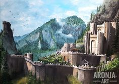 "98 Likes, 1 Comments - I <3 fantasy art (@ilovefantasyart) on Instagram: ""Title: Kaer Morhen  Artist: Aronja Art  etsy.com/de/shop/AronjaArt  Follow my friend: @aronjaart…"""