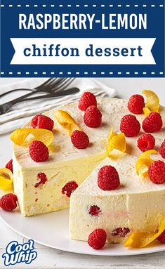 Raspberry-Lemon Chiffon Dessert – Make a dessert that's simple yet delicious; with this citrus-infused recipe. Featuring plenty of fresh fruit, this show-stopping sweet treat is perfect for summer celebrations.
