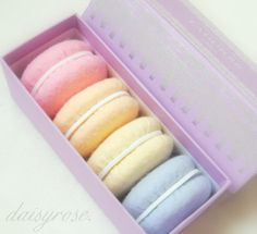 These cute pastel macarons are actually made of felt!