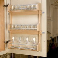 Door Mount Spice Rack - Kitchen Cabinet Organizers