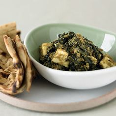 Curried Spinach and Fresh Cheese (<i>Saag Paneer</i>) - Indian Party Menu - Sunset
