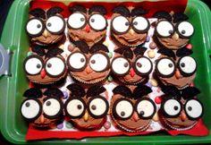 Schoko - Eulen - Cupcakes.