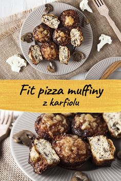 Light cauliflower muffins with a pizza flavor Cauliflower Pizza Healthy, Cauliflower Muffins, Cauliflower Cheese, Healthy Pizza, Healthy Recipes, Cauliflower Salad, Cauliflower Recipes, Roasted Cauliflower, Pizza Muffins