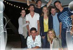 Matt Bomer with Simon Halls at Lee Pace's house + Buffy, the vampire slayer