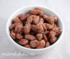 Cinnamon Roasted Almonds  no butter, less sugar recipe