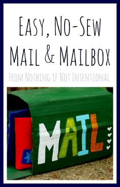 Easy No-Sew Mail and Play Mailbox - NateandRachael.com