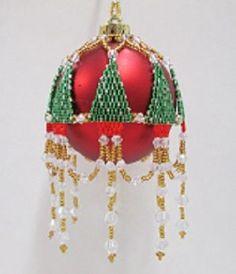 Декор елочных шаров бисером. Идеи / Взлом логики