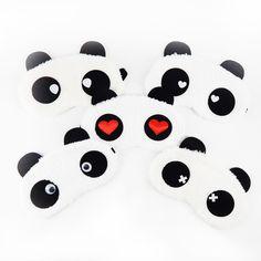 Lucu Panda Tidur Masker Mata Tidur Siang Kartun Warna Mata Tidur Topeng Hitam Masker Perban di Mata untuk Sleeping-MSK02