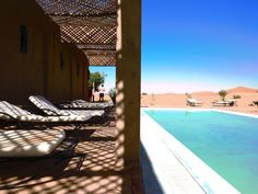 Hotel Kasbah Kanz Erremal, Hassilabied, Morocco — by Alexandra Pucherelli. Nothing fits the description of an oasis quite like this hotel. This cold pool in the Sahara was so luxurious. I want...