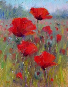 """Field of Red Poppies"" by Karen Margulis"