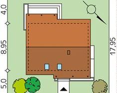 Projekt domu Jeżyna - usytuowanie na działce