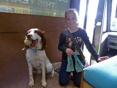 Scarlett wanted to finish her day @TrenythonManor by having her photo taken with Ticket the @Tweet_Bus_Dog #FFWM14 pic.twitter.com/xLKydi83pn