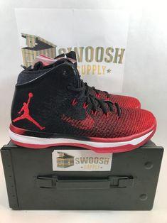 reputable site c19c5 927c0 Nike Air Jordan 31 XXXI Banned Bred Black University Red Retro 845037-108  sz 8