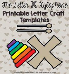 The letter g giraffe printable letter craft template by home ceo in the letter x xylophone printable letter craft template by home ceo in color and black spiritdancerdesigns Gallery