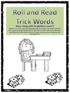"""Fundations level 1 Roll and Read Trick Word game:3 pages, covers all level 1 trick words.Fun way for students to practice reading trick words!I hope you find this useful! Come to my store """"Reading Group"""" for more Fundations supplements, centers, and activities!WLT Disclaimer: This product is an independent product and is not affiliated with, nor has it been authorized, sponsored, or otherwise approved by Wilson Language Training Corporation."""