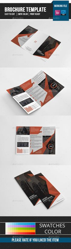Corporate Trifold Brochure Template PSD, InDesign INDD. Download here: http://graphicriver.net/item/corporate-trifold-brochurev278/14824014?ref=ksioks