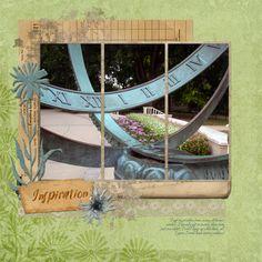 Inspiration Digital Scrapbooking Layout by Jan Hicks