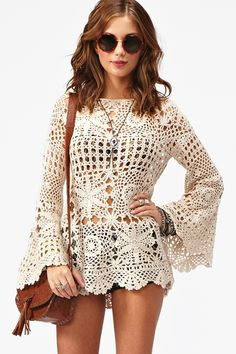 Ashbury Crochet Dress - Cream by NastyGal