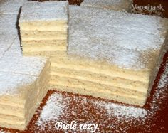Biele rezy (fotorecept) - Recept Cornbread, Tiramisu, Cooking Recipes, Ethnic Recipes, Petra, English, Cakes, Basket, Millet Bread