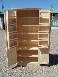Kitchen Larder, Larder Cupboard, Craft Cupboard, Kitchen Pantry Storage, Kitchen Pantry Design, Kitchen Pantry Cabinets, Cupboard Storage, Diy Cupboards, Wood Pantry Cabinet