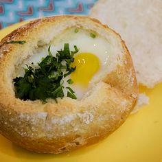Pão com Ovo Chic (receita de forno)   COZINHA PARA 2 : Cozinha para quem não sabe cozinhar. Sem fogão, sem complicação. Vídeos de receitas deliciosas, com poucos ingredientes. Tudo simples e rápido.