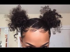 96 Wonderful Two Buns Hairstyle Ideas for 2020 - Beauty Ideas Baddie Hairstyles, Braided Hairstyles, Black Hairstyles, Hairstyles Pictures, Casual Hairstyles, Hairstyles 2018, Wedding Hairstyles, Natural Hair Care, Natural Hair Styles