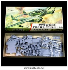 Vintage Airfix red stripe box kit produced between 1963 and In very good condition, complete. Vintage Models, Old Models, Vintage Trends, Vintage Designs, Plastic Model Kits, Plastic Models, Airfix Models, Airfix Kits, Focke Wulf