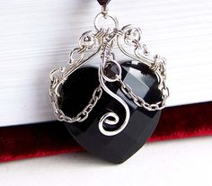 Black obsidian heart choker by CreativityJewellery on deviantART