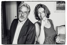 "Giancarlo Giannini and biographer of his new book, ""Sono ancora un bambino."""