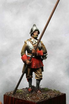 Thirty Years' War Piquero Spanish Tercio, Sculptor: Antonio Meseguer Painter: David Hernanz